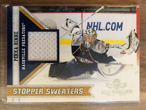 2011-Panini-Stopper-Sweaters-All-Goalies-Pekka-Rinne-8-Jersey-Card-Hockey-Card