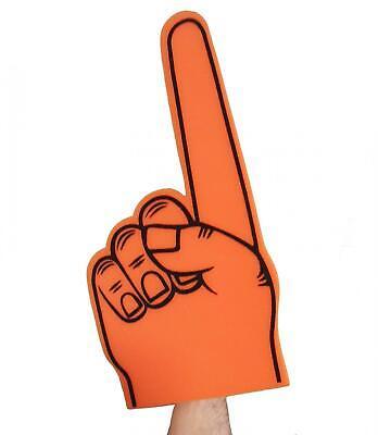 Disinteressato 45cm Grande Arancione Schiuma Dito Spugna Sventolando Prop Partita Di Calcio In Schiuma Di Puntamento A Mano-mostra Il Titolo Originale