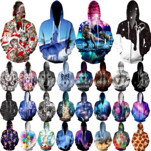 Graphic 3D Print Men/Women Zipper Hoodie Sweatshirt Long Sleeve Coats Jaket Tops