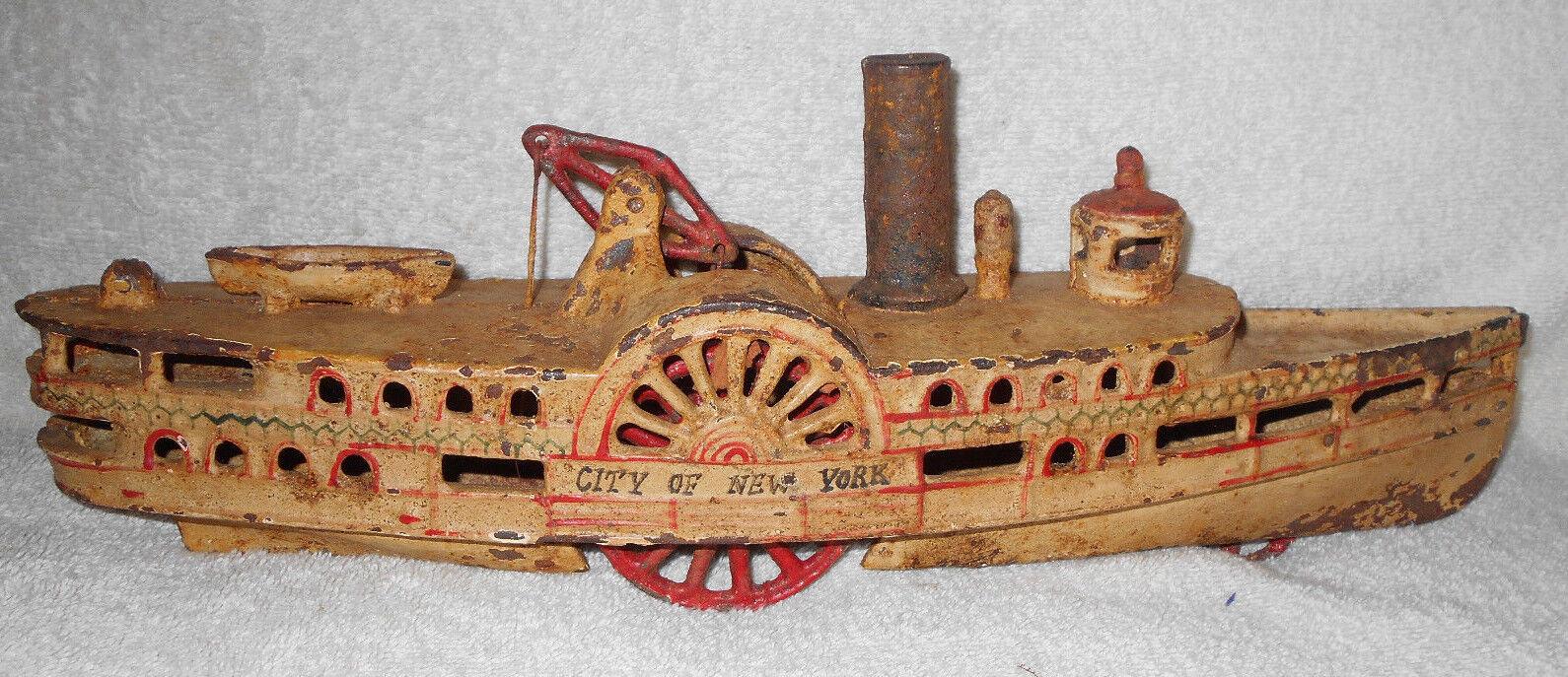 15 Hierro Fundido Wilkins en ciudad de Nueva York Riverboat Lado Rueda de Paletas de barco de vapor