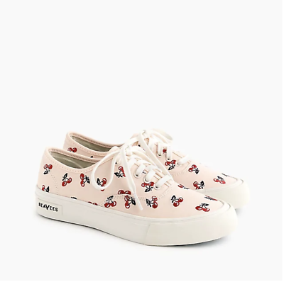 Comfort Shoes Popular Brand Seavees® For J.crew Legend Sneakers With Embroidered Fruit-j0278-size 5,8.5,9.5 Crazy Price