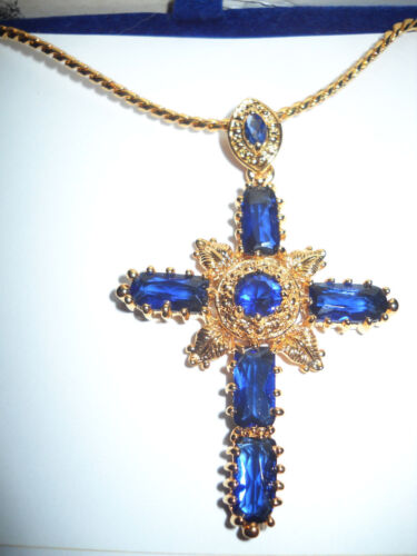 Camrose /& Kross Jacqueline Jackie Kennedy North Star Cross Pendant w//Box etc