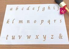 Italic Letters Stencil, ABC Lower Case  Stencil, Old English Letters Stencil