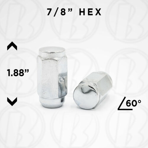 9//16 R.H Duplex Acorn Chrome Lug NutsSet of 32