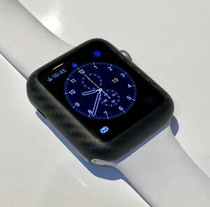 online store c2ceb bd554 Details about High Quality 100% Carbon Fibre Case For Apple Watch SERIES 2  & 3 - 42mm Matte