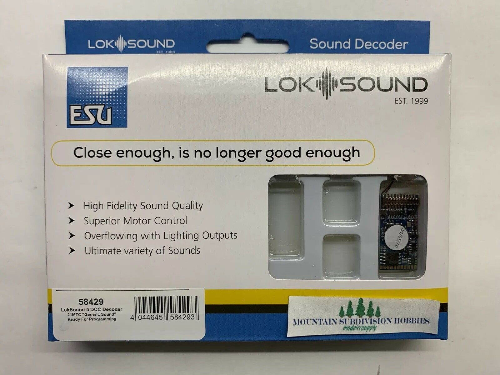 ESU 58429 Loke Sound 5 DCC Ljudavkodare - Brand New - modellllerRRSUPPPLY  5 Offer