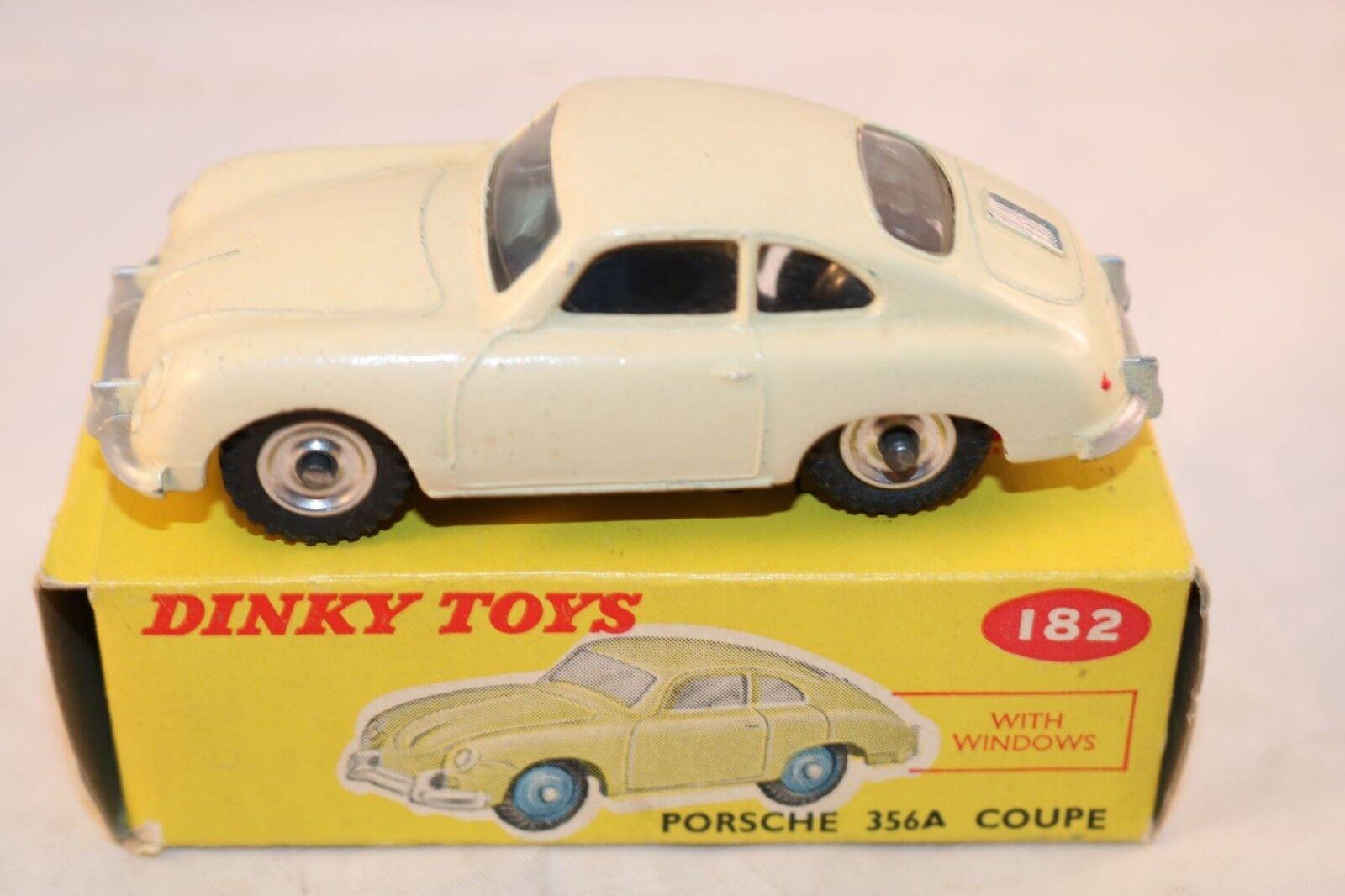 Dinky Toys 182 Porsche 356 cream 99% mint in box original condition SPUN HUBS