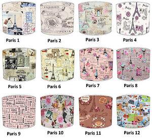 Vintage-PARIS-ABAT-JOUR-ideal-correspond-a-Papier-peint-amp-TOUR-EIFFEL-coussins