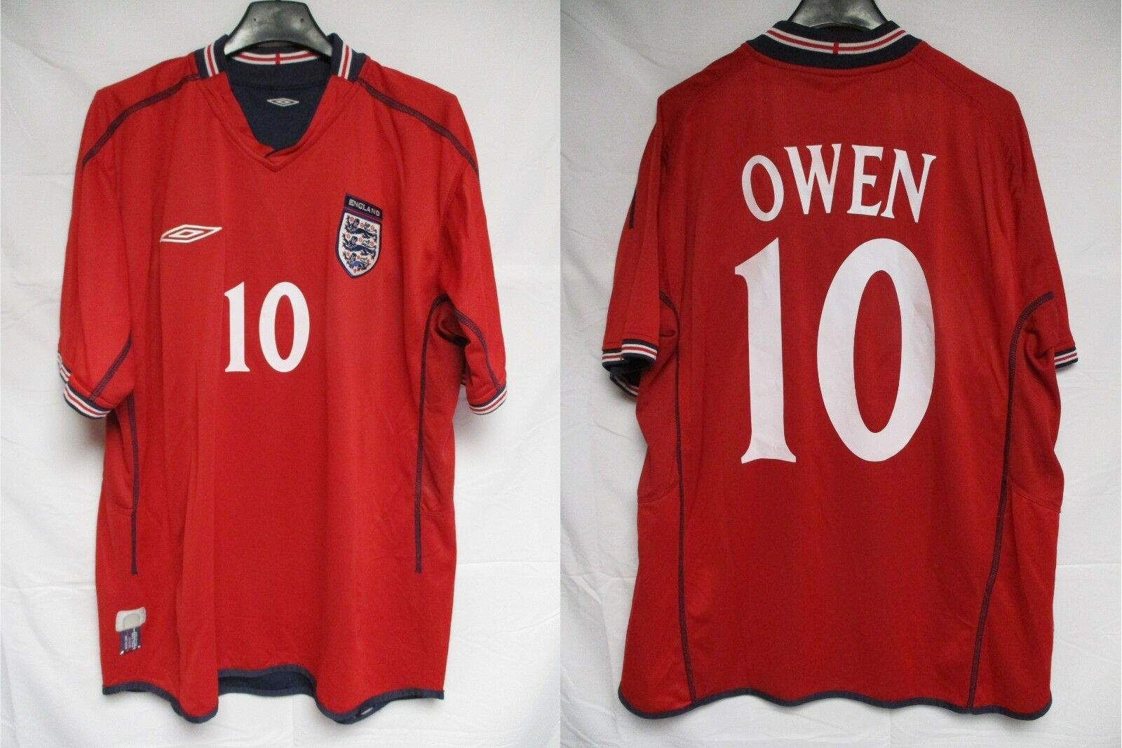 Maillot ANGLETERRE ENGLAND shirt OWEN 10 vintage UMBRO World Cup 2002 jersey XL
