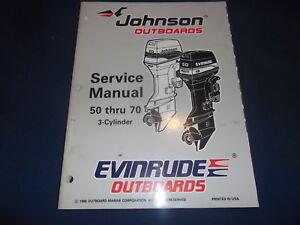 omc johnson evinrude 1997 50 thru 70 hp outboard engine service rh ebay com 1976 evinrude 70 hp service manual 1976 evinrude 70 hp service manual