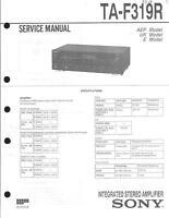 Sony  Original Service Manual für TA-F 319R