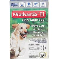 Bayer K9 Advantix Ii For Extra Large Dogs Over 55 Lbs - 6 Pack - Free Shipping