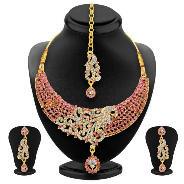 Sukkhi Stylish Gold Plated AD Necklace Set For Women(3043NADD1900)