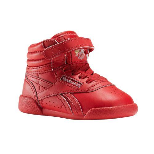 Reebok Classic Freestyle Hi Bébés Rouge Taille 2.5 RRP £ 40 Entièrement neuf dans sa boîte BD5008