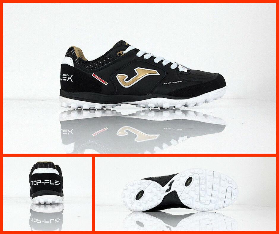 JOMA shoes calcetto turf TOP FLEX 801 TOPW.801.TF col. black gold giugno 2018