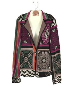 ETRO-MILANO-Colorful-Abstract-Print-Cardigan-Sweater-Size-44-US-8