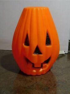 Vintage-Rare-HTF-Flat-Top-Tapered-Halloween-Jack-O-Lantern-Pumpkin-Blow-Mold