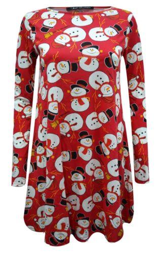 Bambine Natale Swing Abito Babbo Natale Pupazzo Di Neve Rudolph Natale LOTTO Skater Dress