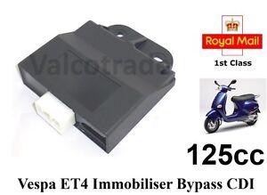 Details about Immobiliser Chip Key Bypass CDI fits Vespa Piaggio ET4 125  125cc LEADER ACI603