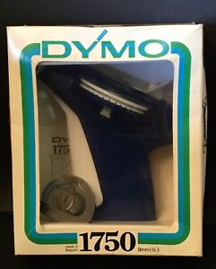 Vintage-Blue-Dymo-1570-Labeling-Machine-1970-Label-Maker-In-box-as-new