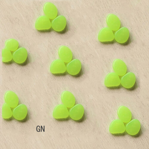100Pcs//Lot Glow in The Dark Pebbles Luminous Stones Home Fish Tank Decoration US