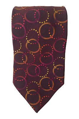 """*profuomo* Red Geometric Circle 100% Silk Tie (59"""") Klar Und GroßArtig In Der Art"""