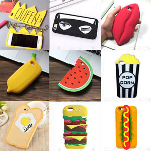 promo code 68c17 2e0c3 Détails : 3D Hot Cute Kawaii Food Cartoon Silicone Phone Case Cover Shell  Back For iPhone