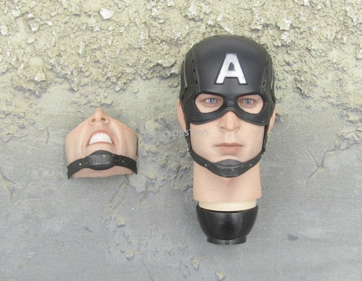 1 6 Scale Toy CAPTAIN AMERICA - Heads Sculpt w Magnetic Face Variant