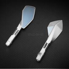 Silver CNC Motorcycle Rear Side Mirrors For Aprilia TUONO Mana / Dorsoduro SR50R