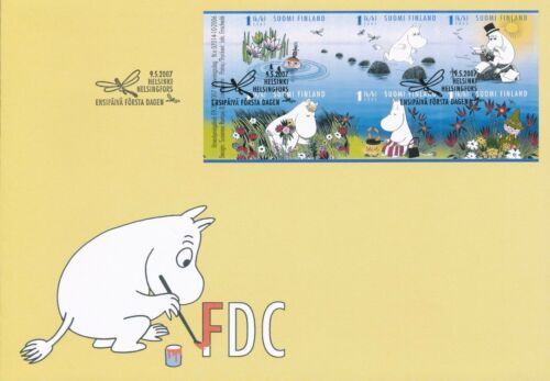 Finland 2007 FDC Booklet - Moomin Troll Summer in Moominvalley - Tove Jansson