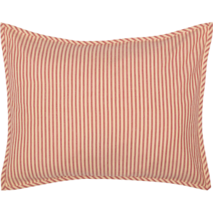SAWYER-MILL-RED-Ticking-Stripe-Standard-Sham-Farmhouse-White-Cotton-VHC-Brands