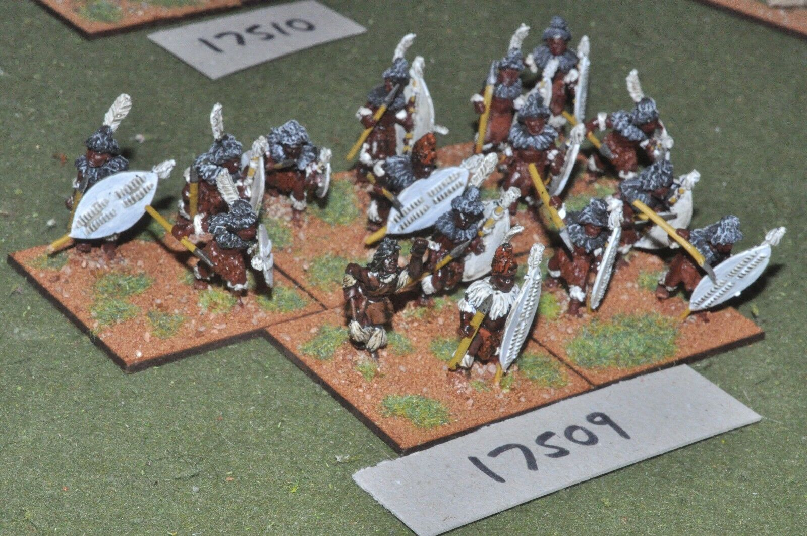 25mm Colonial Zulu-Africana hombres 15 higos-INF (17509)