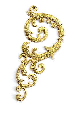 Swirl Art  Abstract Design/Gold Metallic Applique