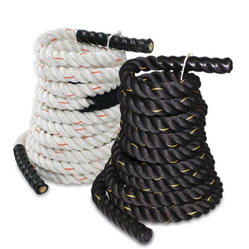 "1.5"" Battle Rope Poly Dacron Undulation Rope Exercise Fitness 30ft, 40ft, 50ft"