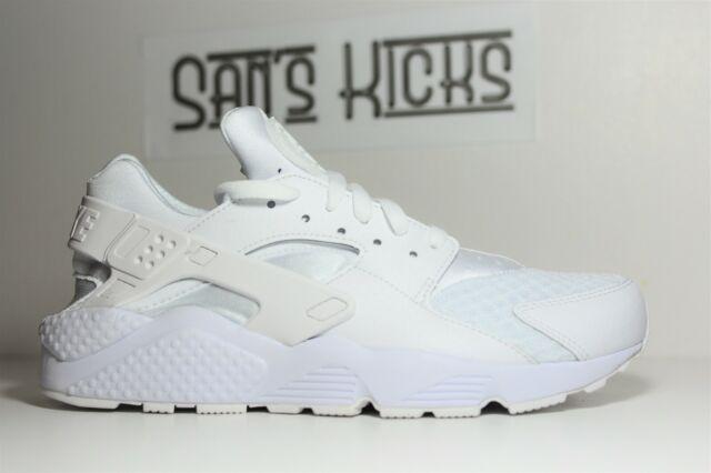 Men's Nike Air Huarache Triple White [318429-111] [Size 9 - 13]