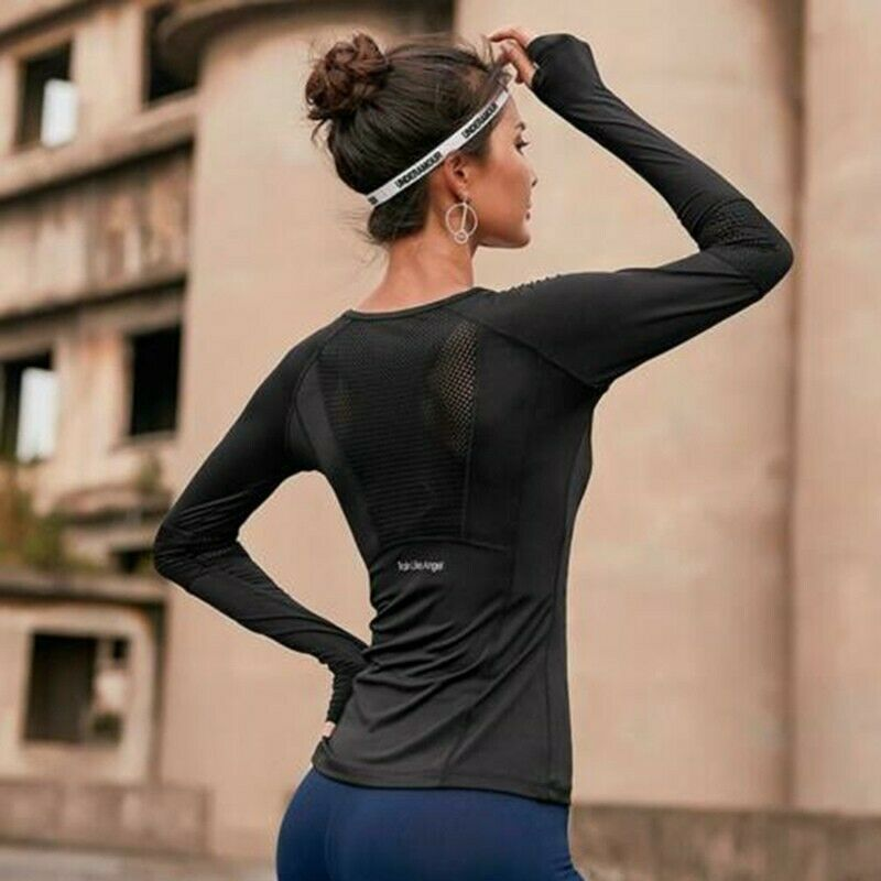 Women's T-shirt yoga running compression clothes long sleeve fitness sportswear
