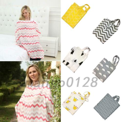 Cotton Baby Breastfeeding Cover Mum Nursing Simple Apron Shawl Cloth+Storage Bag