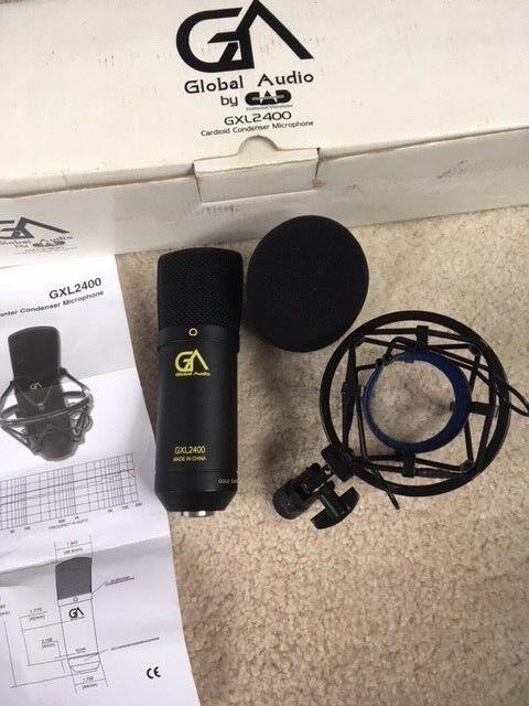 CAD GXL2400 Condenser Studio Recording Mic w Shock Mount