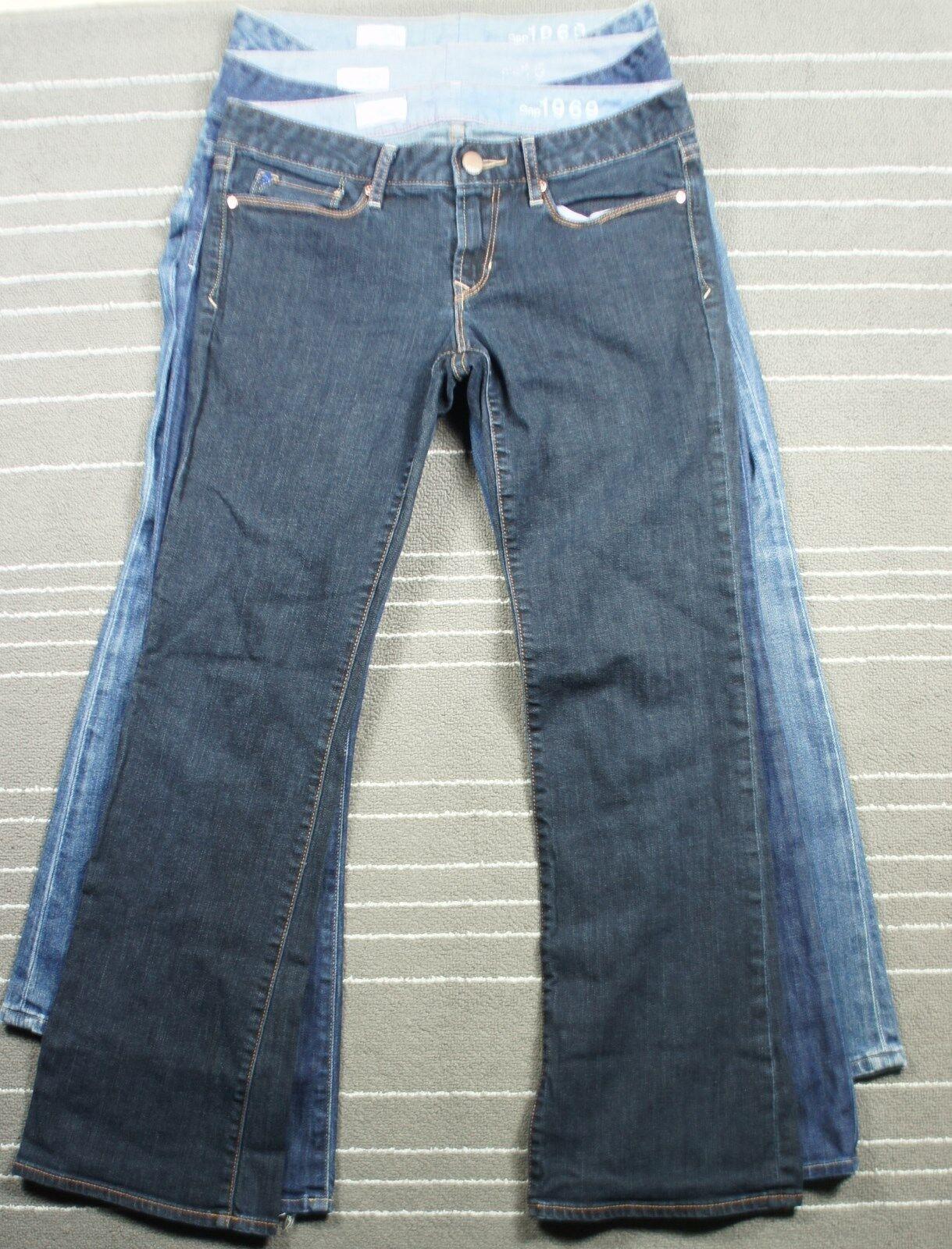 Lot of 3 Gap 1969 Jeans Boot Cut sz 28 6a