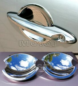AU-STOCK-x2-CHROME-Door-Handle-Cups-Bucket-Covers-MINI-Cooper-S-R50-R53-R55-R56