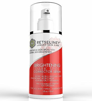 Retseliney Best Dark Spot Corrector Serum, for Age, Brown and Sun Spots