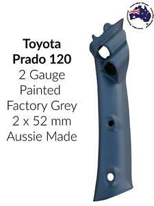 2 Gauge Pillar pod  suit 120 Series Toyota Prado Painted Factory Grey 2 x 52mm