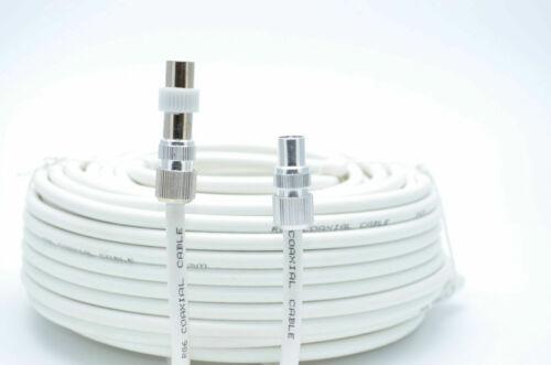 Antenne Câble coaxial RF plomb RG6 7 mm blanc 3 M TV Ariel plomb Vidéo plomb TV plomb