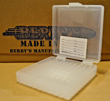 9 mm / 380 - 100 round ammo case / box (CLEAR COLOR) Berrys mfg. 9 mm BRAND NEW