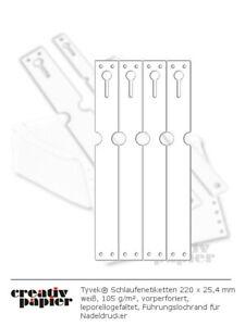 Tyvek Schlaufenetiketten 220x25,4 mm div. Farben 105 g/m² für Nadeldrucker/Hand