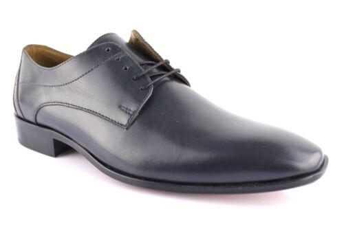 Granada Manz Business Leder Blau Schnürer Schuhe Herren Ledersohle Halbschuhe UUnBawqpxg