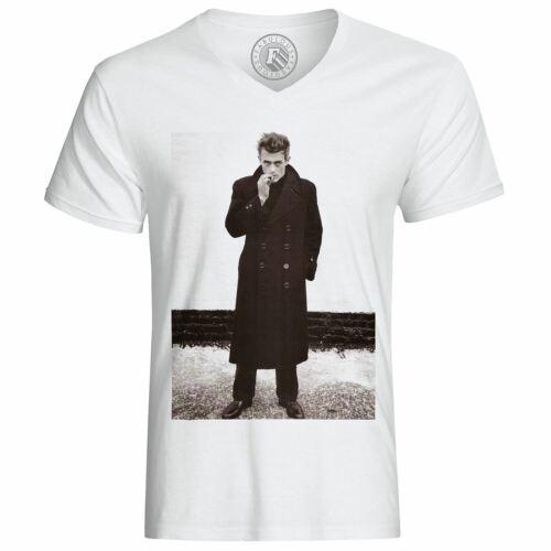 T-Shirt Homme Photo de Star Célébrité James Dean Acteur Vieux Cinéma Original 6