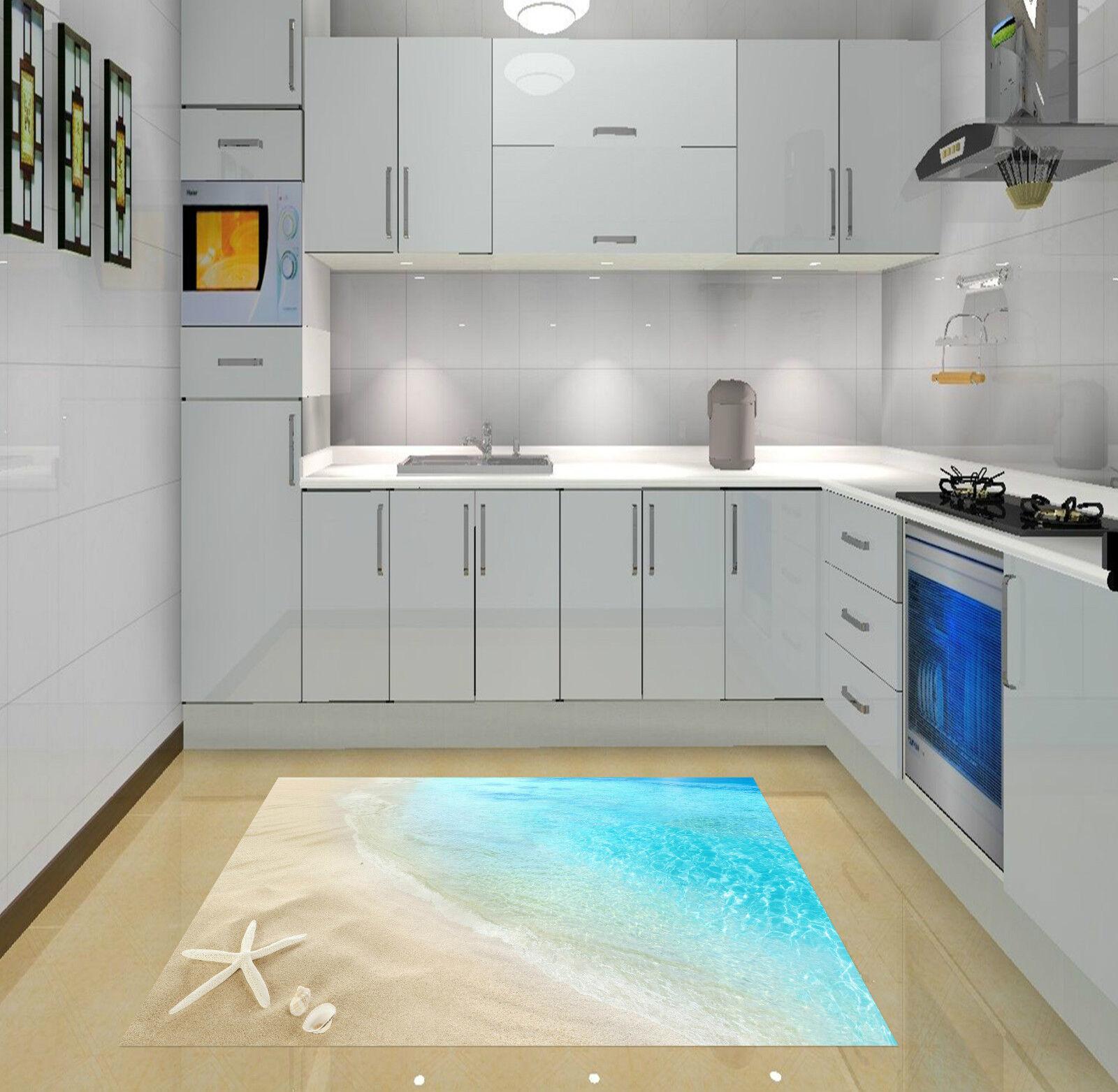 3D Beach Scenery 7 Kitchen Mat Floor Mural Wall Print Wall Deco AJ WALLPAPER CA