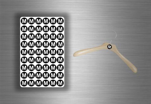 Etiketten Kleidung Größe S XS M L WL … aufkleber sticker Geschäft Kleiderbügel