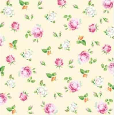 4 x single Vintage PAPER Lunch NAPKINS for Party Romantic Roses 1 DECOUPAGE W/97